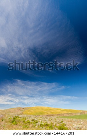 Clouds above the Palouse - stock photo