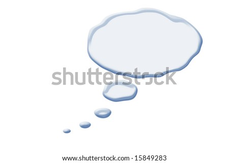 clouds abstract of comic thoughts isolated against white background - stock photo
