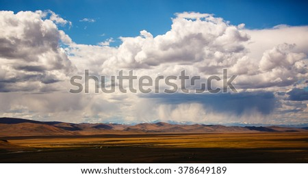 clouds after the rain - stock photo