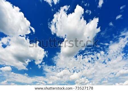 Clouds against blue sky - stock photo