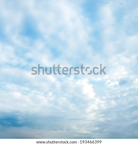 clouds against the blue sky abstract background - stock photo