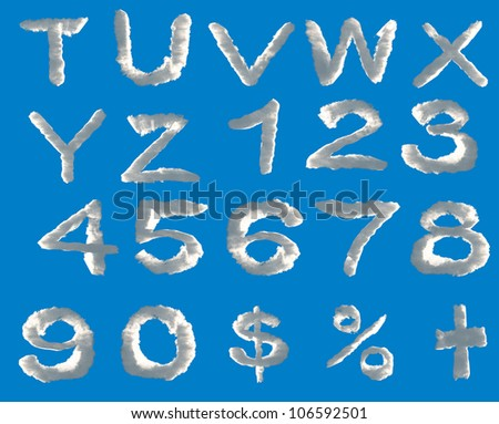 skywriting alphabet