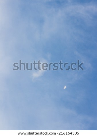 clouds and blue sky view from above - stock photo