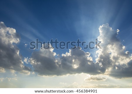 Clouds and light - stock photo