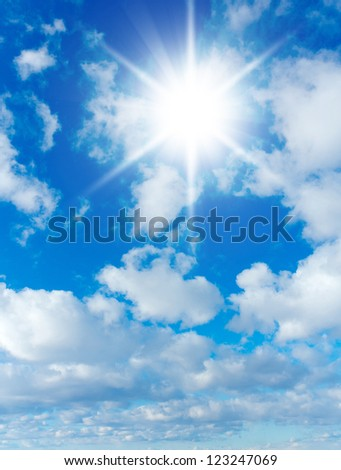 Clouds and Skies in Brightest Paradise - stock photo