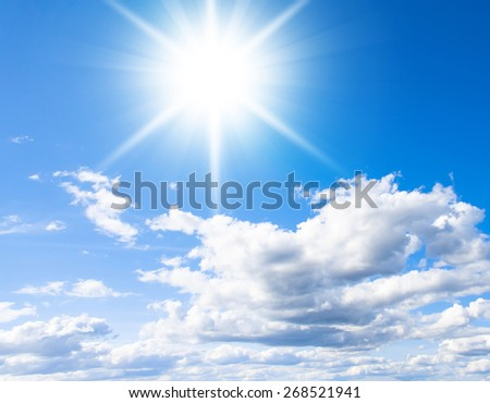 Clouds and Skies Under Sun  - stock photo