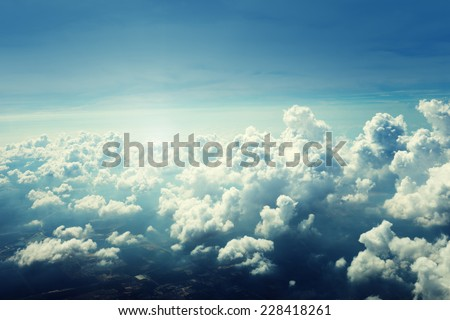clouds and sky - stock photo