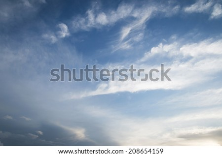 Clouds and sky in the evening. Sky background - stock photo