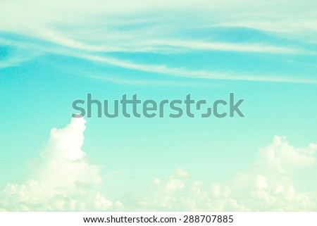 Clouds and sky in vintage style. - stock photo