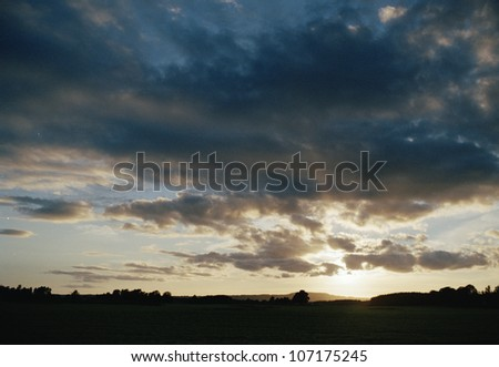 Clouds and sunset, Bohuslan, Sweden.