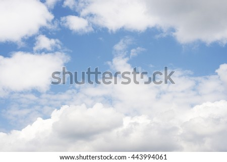 Clouds as the background - stock photo
