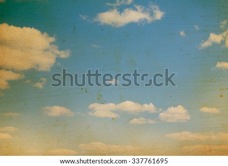 clouds as vintage sky background