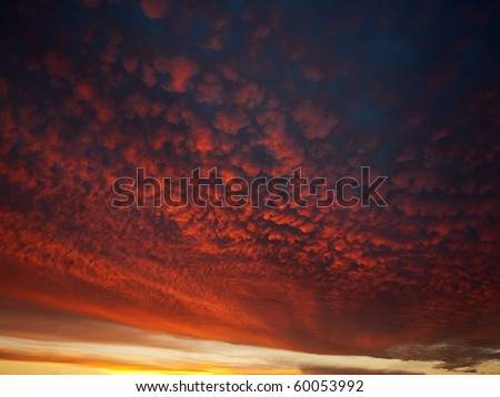 Clouds at sunrise - stock photo