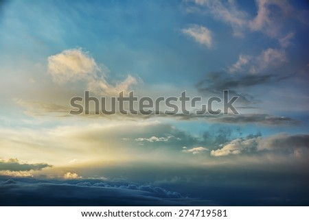 Clouds at sunset - stock photo
