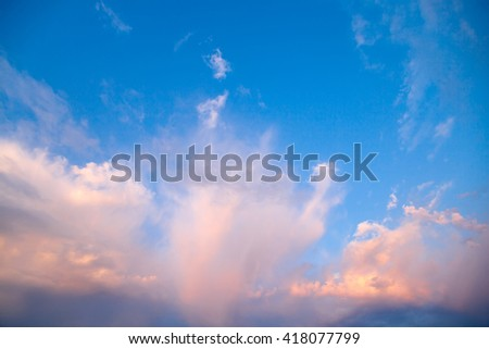 Clouds at sunset, bright colorful sunset