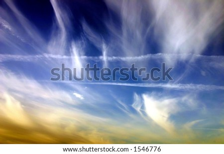 Clouds at sunset time, Turkey. - stock photo