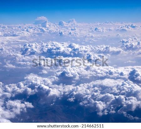 clouds background - stock photo