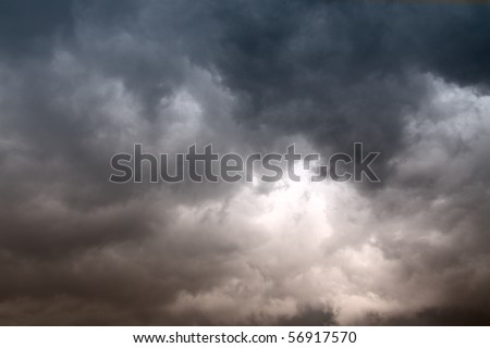 Clouds before rain - stock photo