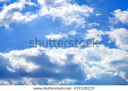Clouds. Clouds on the blue sky background. Background