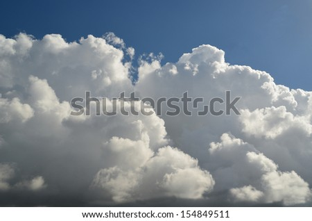clouds cotton heavy - stock photo