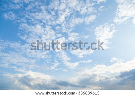 Clouds covered the sky The skies in the morning. - stock photo
