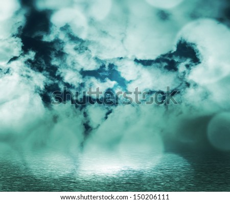 Clouds Fantasy Background - stock photo