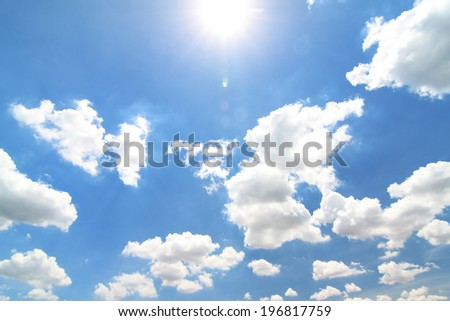 Clouds for background