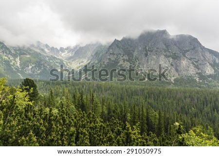 Clouds gathered over the peaks of the Tatra Slovakia