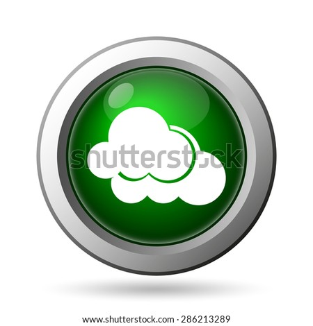 Clouds icon. Internet button on white background  - stock photo