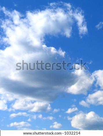 Clouds in a blue sky - stock photo