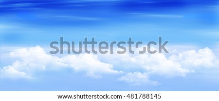 Clouds in a Blue Sky. Digital Painting, Illustration of a white stratus clouds under a blue sky.