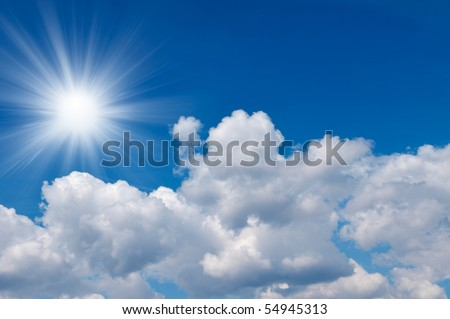 Clouds in a sunny sky - stock photo