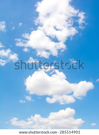 Clouds in blue sky. - stock photo
