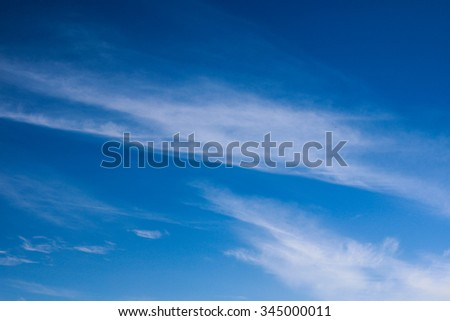Clouds in different shapes with blue skies