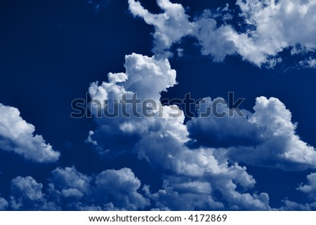 Clouds in moon light, may be used as background - stock photo