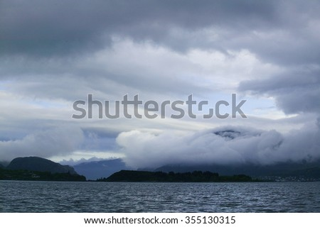 clouds in northern Norway