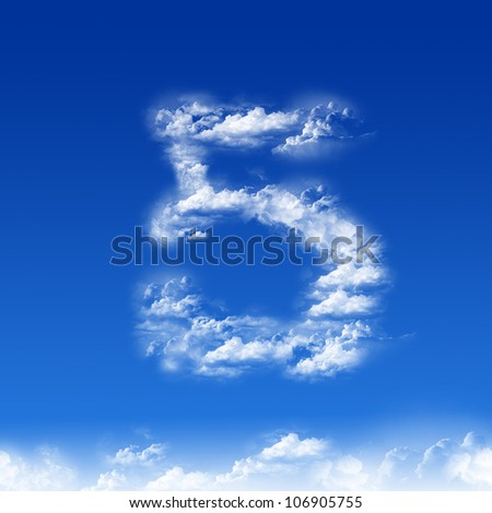 clouds in shape of figure five