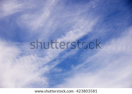 clouds in the blue sky. blue sky background - stock photo