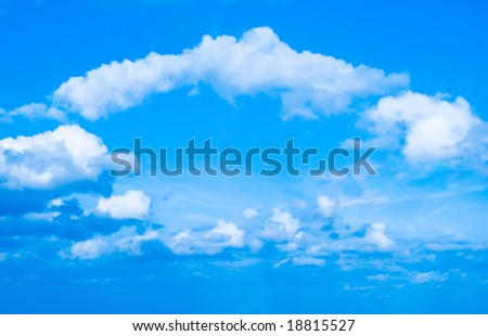 Clouds in the form of an arch - stock photo