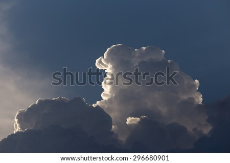 clouds in the sky as the background