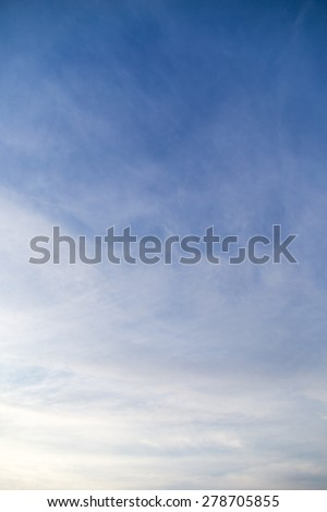 clouds in the sky at dawn Sun - stock photo