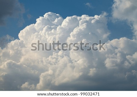 Clouds in the sky before the storm - stock photo