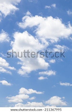 Clouds in the sky On a clear day, bright in the daytime. - stock photo