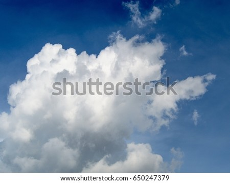 Clouds in the sky with a blue sky background