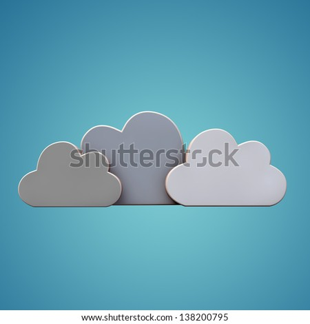 clouds isolated on blue background