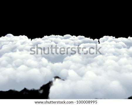 clouds isolated on white background - stock photo