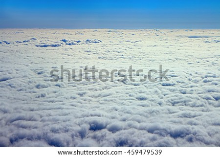 Clouds like cotton wool  top down view