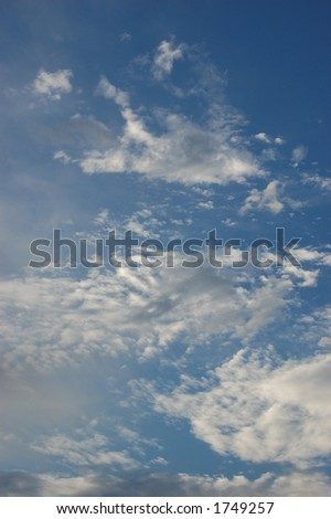 Clouds on a Beautiful Blue Sky
