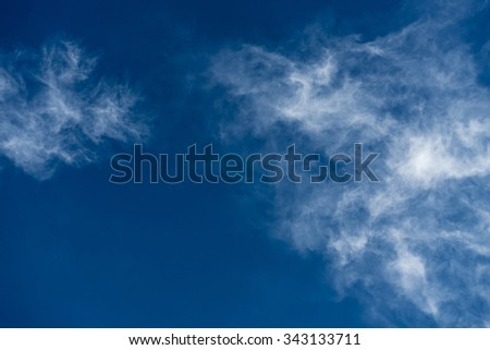 Clouds on a blue sky