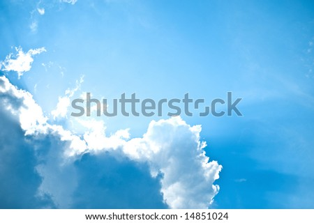 Clouds on sky - stock photo